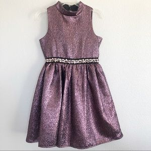 Zunie Sparkly Purple Princess Dress Sz 14